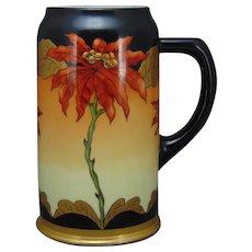 Lenox Belleek (American) Poinsettia Design Tankard/Mug (c.1906-1930)