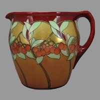 "Lenox Belleek (American) ""Mountain Ash"" Design Pitcher (c.1906-1930) - Keramic Studio Design"