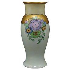 German Porcelain Art Deco Floral Design Vase (c.1920-1940)