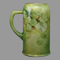 Ceramic Arts Company (CAC) Belleek (American) Hops Design Tankard/Mug (c.1910-1930) - Keramic Studio Design