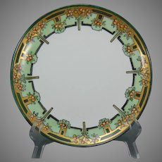 """UC Limoges Orange Tree Design Plate (Signed """"Ruth Wilson""""/Dated 1912)"""