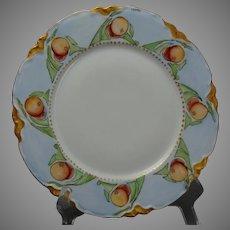 "Hutschenreuther Bavaria Crab Apple Design Plate (Signed ""Saurs""/c.1911-1930) - Keramic Studio Design"
