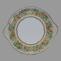 Hutschenreuther Favorite Uno Bavaria Citrus Fruit Design Handled Plate (Signed/c.1910-1930)
