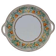 Hutschenreuther Favorite Uno Bavaria Citrus Fruit Design Handled Plate (Signed/c.1910-1930)
