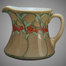 "WG&Co. Limoges ""Mountain Ash"" Design Pitcher (Signed ""Murphy""/c.1905-1920) - Keramic Studio Design"