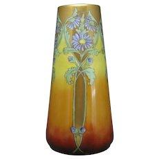 CT Altwasser Silesia Art Deco Purple Aster Design Vase (c.1910-1935)