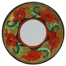 Coiffe Limoges Poppy Design Plate (c.1910-1930)