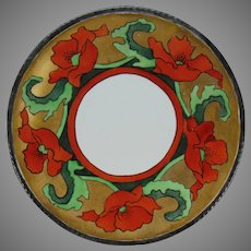 Coiffe Limoges Poppy Design Plate (c.1910-1930)