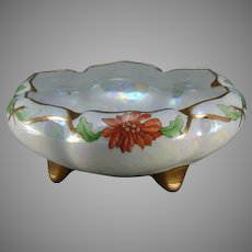O&EG Austria Poinsettia Design Bowl (c.1910-1930)