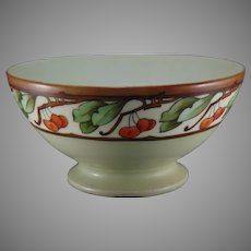"Haviland Limoges Cherry Design Bowl (Signed ""Alice S. Porter""/Dated 1908) - Keramic Studio Design"