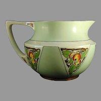 """JP Limoges Apple Design Cider/Lemonade Pitcher (Signed """"Ruth Bocart Morgan""""/c.1912-1930) - Keramic Studio Design"""