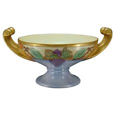 """Hutschenreuther Selb Bavaria Fruit Design Centerpiece Bowl (Signed """"M.N.W.""""/Dated 1925)"""