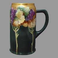 Ceramic Art Company (CAC) Belleek (American) Grape Design Tankard/Mug (c.1903-1920) - Keramic Studio Design