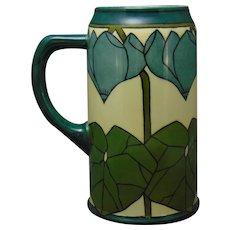 Lenox Belleek (American) Cyclamen Design Tankard/Mug (Dated 1911)
