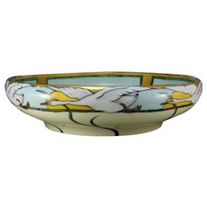 "Rosenthal Bavaria Snow Geese Design Bowl (Signed ""M.B. Rass-Sleeper""/c.1907-1930) - Keramic Studio Design"