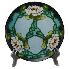 "Thomas Bavaria Pond Lily Design Plate (Signed ""H. Bloom""/c.1910-1930)"