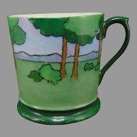 """T&V Limoges Scenic Design Mug/Cup (Signed """"L. Tuerke""""/c.1910-1930)"""