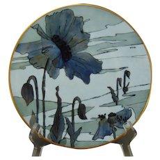 Hutschenreuther Favorite Bavaria Monochromatic Poppy Design Plate (c.1910-1930)