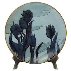Hutschenreuther Favorite Bavaria Monochromatic Tulip Design Plate (c.1910-1930)
