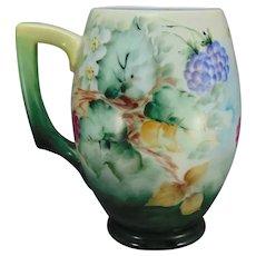 "PH Leonard Austria Raspberry Design Tankard/Mug (Signed ""Joboy""/c.1910-1930)"