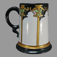 "Rosenthal Bavaria Arts & Crafts Tankard/Mug (Signed ""M.S.""/c.1910-1930) - Keramic Studio Design"