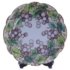 "Limoges ""Mark 6"" Grape Design Bowl (Signed ""H.B.S.""/c.1910-1930)"