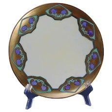 """Haviland Limoges Fruit Design Plate (Signed """"M. Horn Butler""""/Dated 1910) - Keramic Studio Design"""