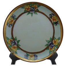"Hutschenreuther Selb Bavaria Pansy Design Plate (Signed ""C. Schwirtz""/c.1920-1940)"