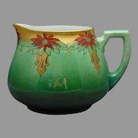 WG&Co. Limoges Art Deco Poinsettia Design Pitcher (c.1910-1930)