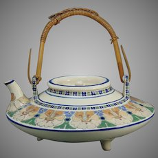 American Satsuma Enameled Floral Design Teapot (c.1910-1930)