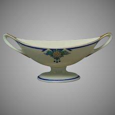 "Lenox Belleek (American) Enameled Floral Design Pedestal Bowl/Dish (Signed ""Comzaga""/Dated 1933)"