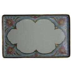 T&V Limoges Floral Design Tray (c.1910-1930)