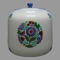Lenox Belleek (American) Enameled Floral Design Biscuit Jar (c.1914) - Keramic Studio Design