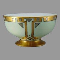 """WG&Co. Limoges Art Deco Design Bowl (Signed """"E. Morrison""""/Dated 1912)"""