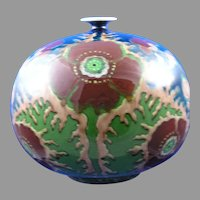 "Royal Bonn Germany ""Old Dutch"" Poppy Motif Vase (c.1890-1923)"