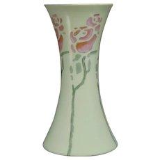 """Hutschenreuther Favorite Bavaria Rose Design Vase (Signed """"Gertrude Dickseid""""/Dated 1910) - Keramic Studio Design"""