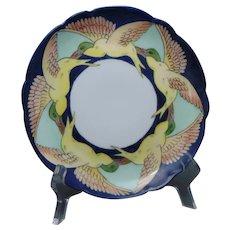"Hutschenreuther Bavaria Seagull/Bird Design Plate (Signed ""Nyberg""/c.1909-1930) - Keramic Studio Design"