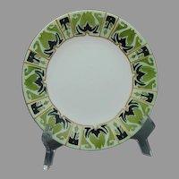 "Limoges ""Mark 6"" Arts & Crafts Plate (Signed ""M.M.S.""/c.1910-1930) - Keramic Studio Design"