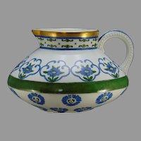 """JP Limoges Floral Design Pitcher (Signed """"O. Snyder""""/c.1901-1930) - Keramic Studio Design"""
