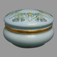 Hutschenreuther Favorite Bavaria Cornflower Design Covered Jar (c.1914)