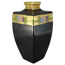 American Satsuma Enameled Floral Design Vase (Signed/c.1910-1930)