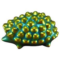 Zsolnay Hungary Eosin Green Hedgehog Figurine