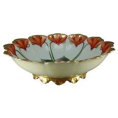 "Pickard Studios ""Cyclamen"" Design Bowl (Signed ""RH""/c.1903-1905)"