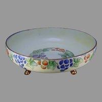 "TK Czechoslovakia Fruit Design Footed Bowl (Signed ""A. Balmat.""/c.1918-1936)"
