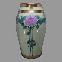 Monumental Tressemann & Vogt (T&V) Limoges Rose Design Vase (c.1910-1930)