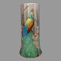 Large B&Co. Limoges Peacock Design Vase (c.1910-1930)