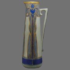 Hutschenreuther Favorite Bavaria Iris Design Pitcher/Ewer (c.1914-1930) - Keramic Studio Design