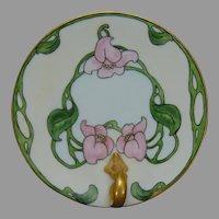 """Hutschenreuther Favorite Bavaria Floral Design Lemon Server/Trinket Dish/Tray (Signed """"M.S.""""/Dated 1911)"""