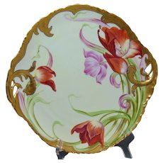 "Rosenthal Bavaria D'Arcy's Art Studio Tulip Design Serving Plate (Signed ""Schindler""/c.1900-1920)"