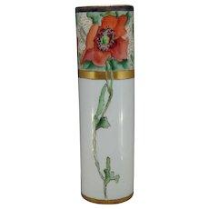 """O&EG Austria Poppy Design Vase (Signed """"H.C. Bannett""""/Dated 1912)"""